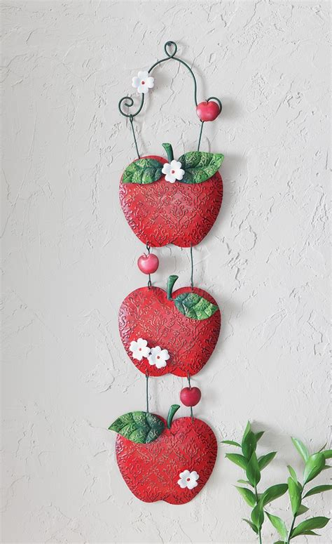 apple kitchen hanging metal wall decor
