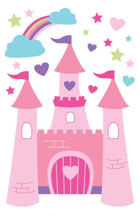 castle wall stickers for walls princess castle wall decals children s decor