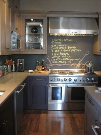 Chalkboard In Kitchen Ideas Diy Kitchen Remodel Chalkboard Paint For Notes