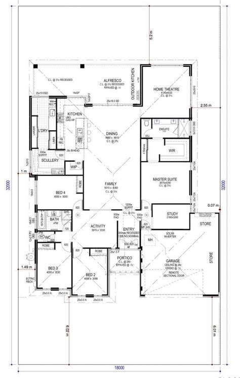 outdoor kitchen floor plans floor plan friday 4 bedroom study home theatre