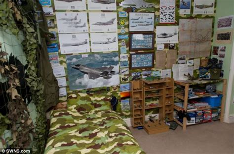 army style bedroom seven year old aviation fan s bedroom is recognised as a