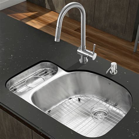 all in one 32 quot undermount stainless steel kitchen sink and