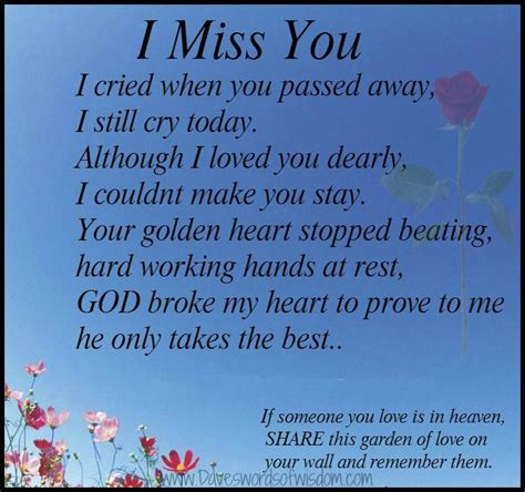 i was sold to my dead s best friend missing you quotes miss you i cried when