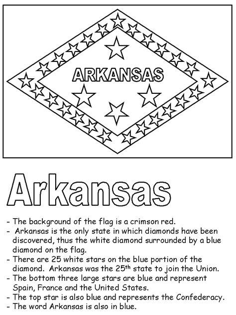 arkansas state flag printable im thinking homeschool