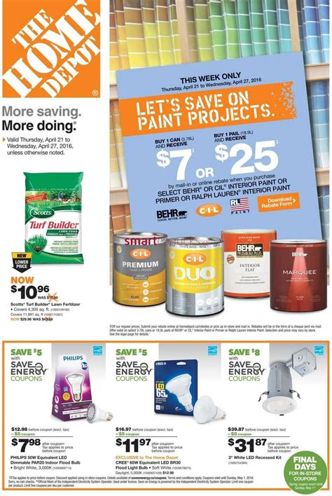 home depot canada flyers