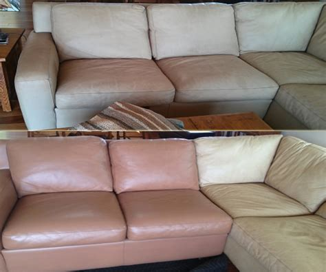upholstery couch repair damaged fabric repair services before and after images