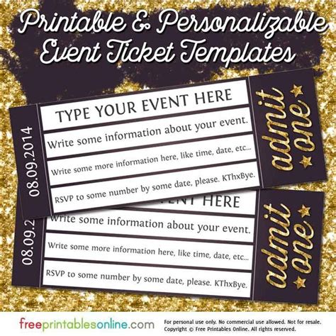 free template for tickets to events best 25 ticket template free ideas on ticket