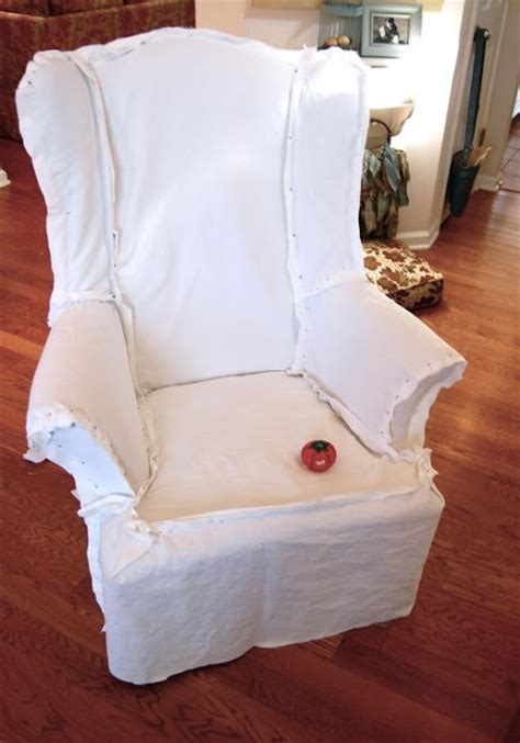 how to make a slipcover for a wing chair little lovables homefront white slipcovers and touches