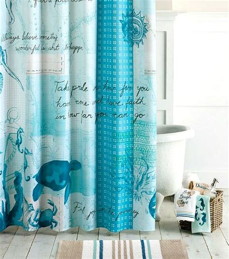 ocean themed curtains beach decor shower curtains to create an instant spa feeling