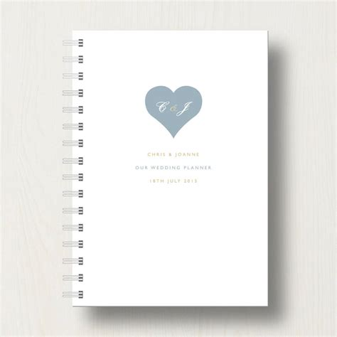 Wedding Planner Journal by Personalised Wedding Planner Journal By Designed