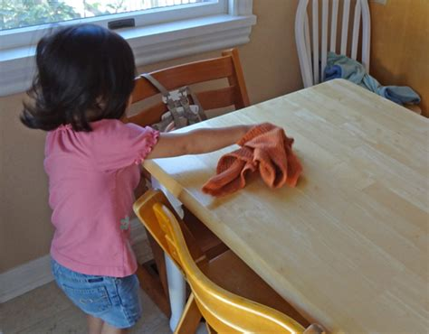 Cleaning Table by 9 Practical Activities Involving Food Gift Of Curiosity