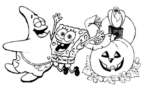 halloween coloring pages free download print halloween coloring pages spongebob or download