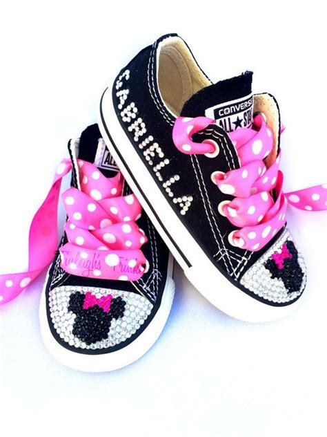 Shoes Import Mouse Pink minnie mouse toddler converse bling shoes pink disney inspired rhinestone converse
