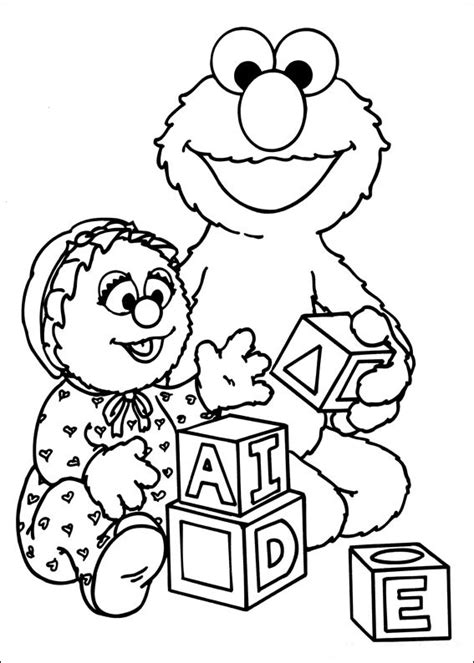 sesame street free colouring pages