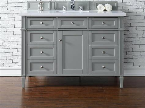 48 inch bathroom vanity contemporary 48 inch single bathroom vanity gray finish no top