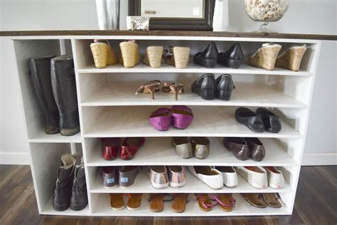 diy shoe organizers how to make a diy shoe organizer and rack for the closet
