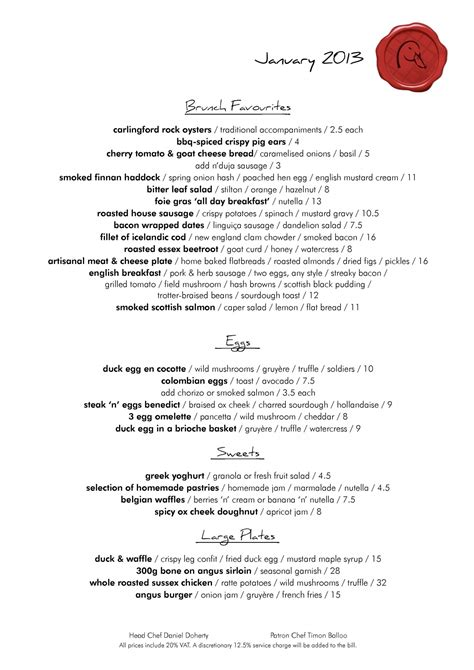 and duck menu 2 of 14 price lists menus duck waffle restaurant and bar