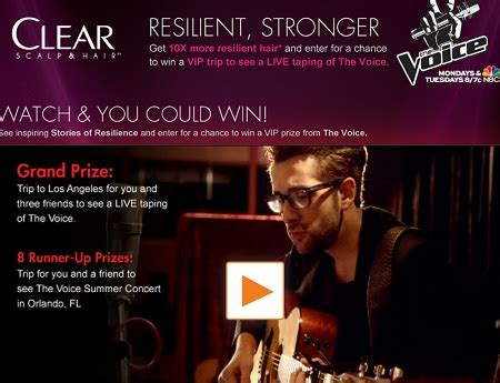 the voice resilient stories sweepstakes sweeps maniac - The Voice Sweepstakes