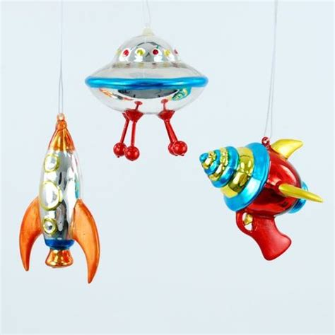 space ship ufo ray gun christmas holiday tree ornaments