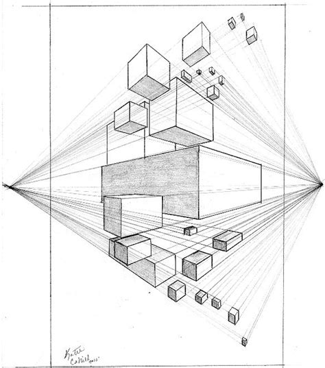 2 Point Perspective House Drawing Lesson by 2 Point Perspective Drawing Lessons Drawings