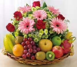 Flowers And Fruits - filipinas gifts flowers amp mix fruit basket