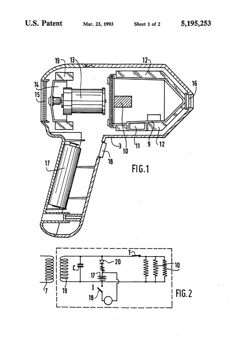 Assembly Of Hair Dryer patent us5195253 cordless electric hair dryer