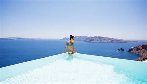 Infinity Pool by Infinity Pool Suite Canaves Oia Santorini