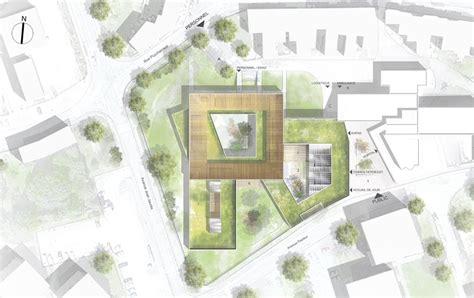 plan masse architecture pinterest stavy architectes erp construction d un ehpad 224 la