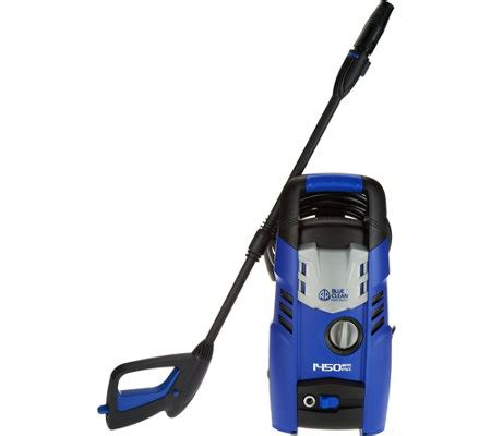 blue clean 1450 psi pressure washer with adjustable spray