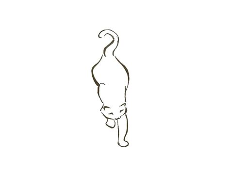 cat outline tattoo cat outline tattoos www imgkid the image kid