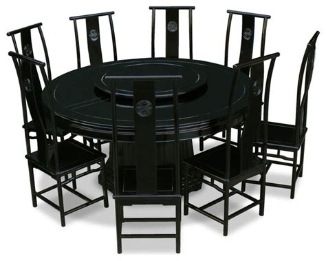 Japanese Dining Table Set 66 Quot Rosewood Longevity Design Dining Table With 8 Chairs Asian Dining Sets By China