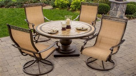 Outdoor Pit With Chairs by Outdoor Swivel Dining Chairs Ideas With Dining Table