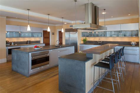 island with cook top and breakfast bar we then installed 35 large kitchen islands with seating pictures