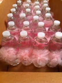 water bottle pom poms tutu themed baby shower by