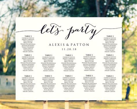 wedding seating charts template 25 best ideas about seating chart wedding on