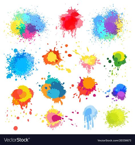 splat color abstract paint splat paint splashes color vector image