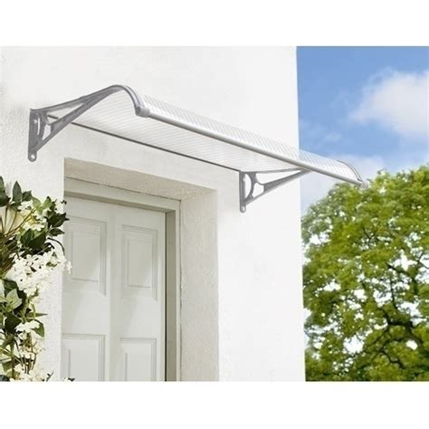 clear awnings clear window door canopy awning w gutter 120x100cm buy