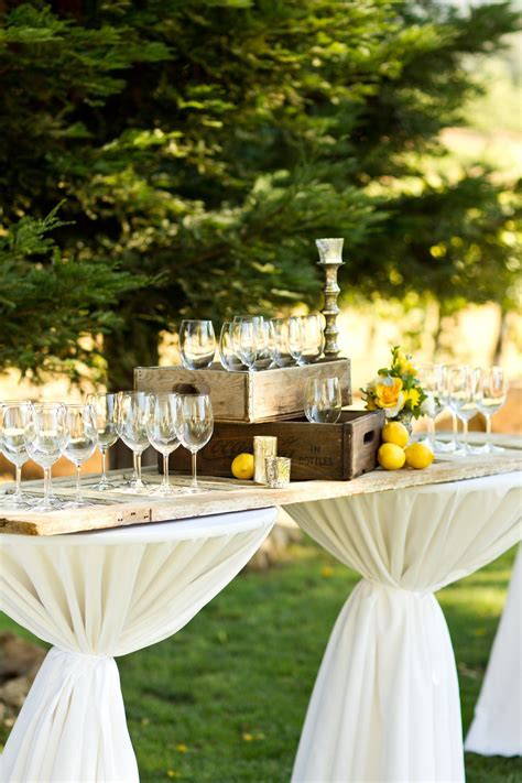 Table idea. Rustic Cocktail Hour Decor   Wedding Planning