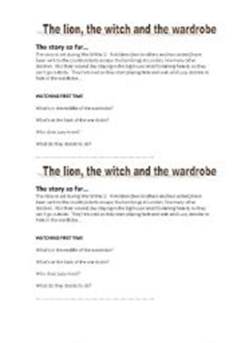 lucy film worksheet english teaching worksheets the chronicles of narnia