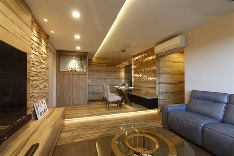 resort style interior design tranquilizing modern resort interior design with wood grain laminate and bricks