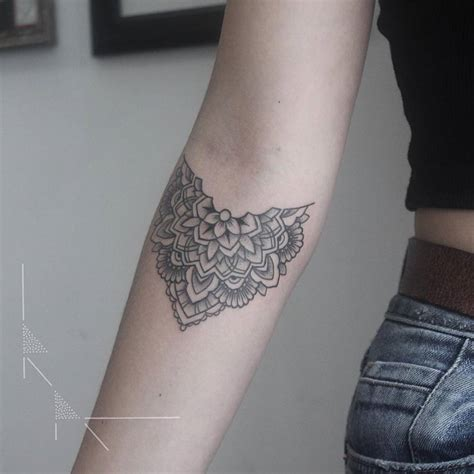 mandala tattoo forearm cutelittletattoos floral mandala on anya s right