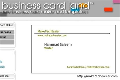 free business card template generator business card maker fragmat info