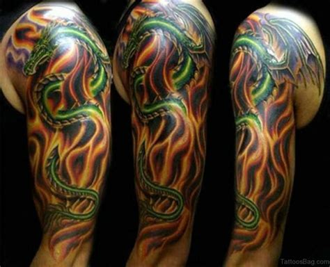 dragon with fire tattoo designs 50 best tattoos on sleeve