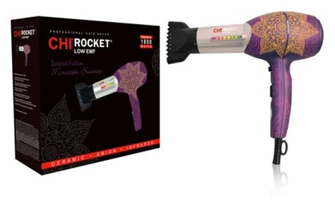 Moroccan Hair Dryer chi rocket low emf professional hair dryer in moroccan