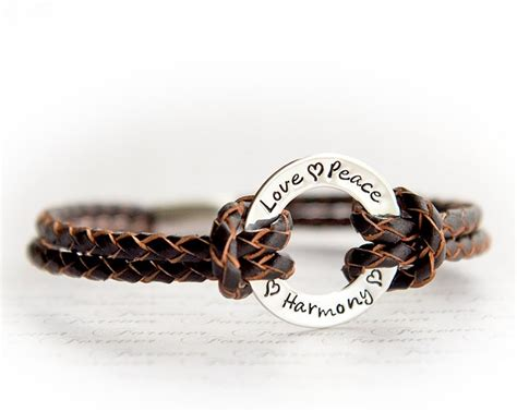 Via S Handcrafted Jewelry - s personalized bracelet leather bracelet custom