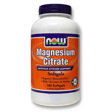Magnesium Citrate Detox Diet by Buy Now Foods Magnesium Citrate 133 Mg 180 Softgels Uk