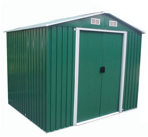 foxhunter garden shed strong metal apex roof outdoor
