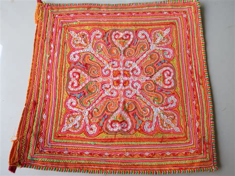Handmade Tapestries - vintage hmong fabric handmade fabrics handmade tapestry