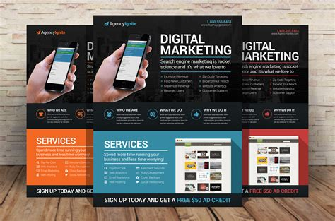 digital marketing flyer psd by xstortionist on deviantart