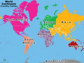 World Continents Map by Learn World Map Introductory Post Earth Formation And